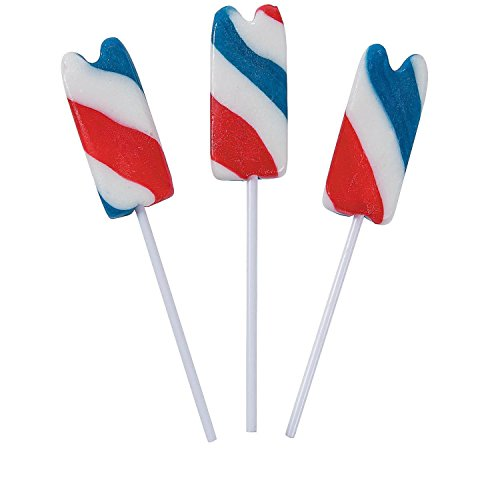 Bargain World Patriotic Frozen Treat Lollipops (With Sticky Notes) - 4' Lollipop Sticks