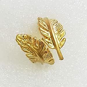 Leaf ring, golden color