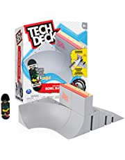 Tech Deck, Bowl Builder X-Connect Park Creator, aanpasbare en opbouwbare schansset met fingerboard, speelgoed voor kinderen vanaf 6 jr.