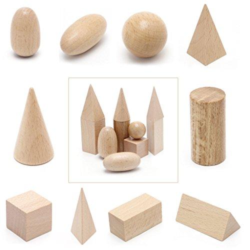 wooden geometric solids 3 d