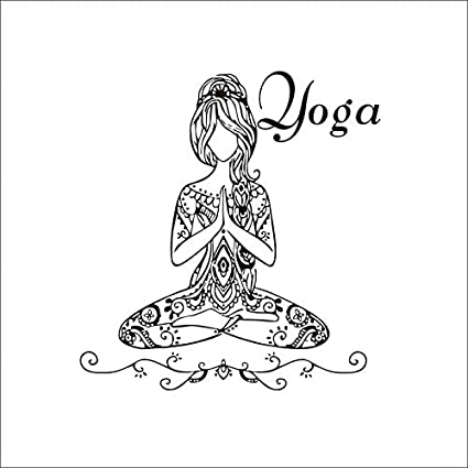 Mural ZOZOSO Yoga Sports Yoga Pattern Wall Stickers Carved ...
