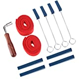 Canomo 11 Pieces Piano Tuning Fixing Tools Kit Includes 1 Piano Tuning Hammer