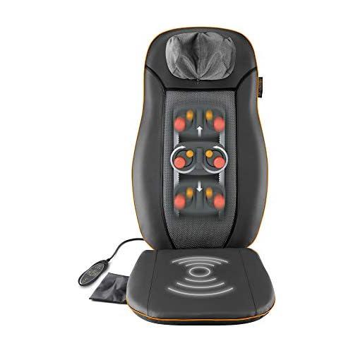 chollos oferta descuentos barato Medisana MCN Respaldo con masaje cervical con 3 zonas de masaje función de calor función de luz roja masaje de cuello ajustable en altura adecuado para cualquier silla 48 W 220 240 V 50 60 Hz