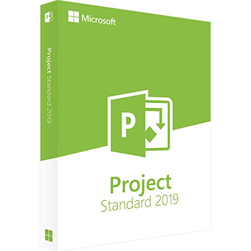 Microsoft Project Standard 2019 For 1 User - For Windows - One time purchase that installs on 1 machine - Manage project schedules and costs - Manage tasts reports and business intelligence ()