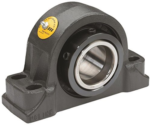 Big Bearing M2000-2-7/16-4 M2000 Heavy Duty Four Bolt Pillow Block Bearing, 2-7/16'' Shaft Size, 9-1/4'' Length, 3-3/4'' Width, 5-11/16'' Height, 17 lb., Iron/Steel by Big Bearing