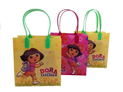 (12ct) Disney Nickelodeon Marvel Birthday Goody Gift Loot Favor Bags Party Supplies (Dora The Explorer)