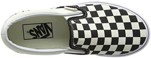 Classic White Platform Slip Black and Black White Vans Checker On on Women��s Slip Bww Trainers 4OqnZ