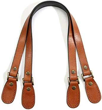 Chocolate Color PandaHall Elite 2 Pcs 24.2 Inches Leather Purse Handles Handbags Shoulder Bag Strap Replacement with Alloy Clasps for Purses Making Supplies