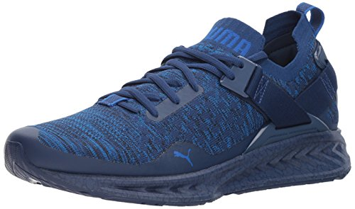 Puma Mens Ignite Evoknit Lo Hypernature Sneaker  Blue Depths Black Lapis Blue  10 5 M Us