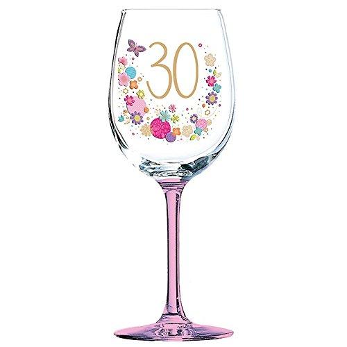 Copa de vino para 30 cumpleaños, diseño Lulu: Amazon.es: Hogar