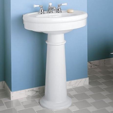 pedestal bathroom sinks. American Standard 0283 800 222 Collection Pedestal Bathroom Sink  with 8 Inch Faucet Spacing