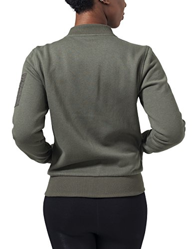 Urban Vert Classics Ladies Blouson Sweat Bomber Jacket Olive Femme ax6aCwqPn