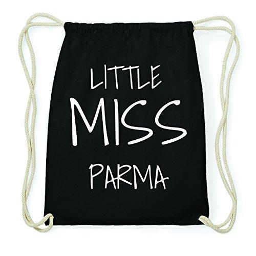 JOllify PARMA Hipster Turnbeutel Tasche Rucksack aus Baumwolle - Farbe: schwarz Design: Little Miss CaxA3xgK