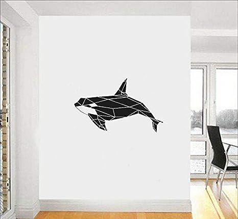 Moderno Geométrico Orca Orca Tatuajes de pared Mar Animal ...