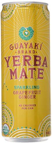 Guayaki Organic Yerba Mate, Sparkling Grapefruit Ginger, 12 oz