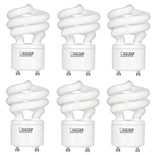 Feit Electric BPESL13T/GU24 900 Lumen Soft White Mini Twist GU24 CFL, Uses Up to 78% Less Energy, Compact Fluorescent, Average Life Up to 10000 Hours, 6 Pack