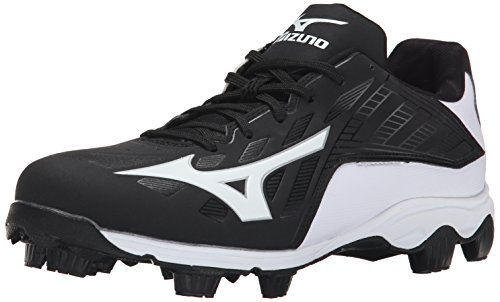 Mizuno Men's 9 Spike ADV Franchise 8 Baseball Cleat, Black/White, 10 M US