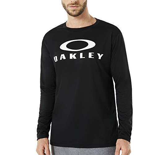 Oakley Men's Enhance Technical Qd Ls Tee.18.11, Blackout, L