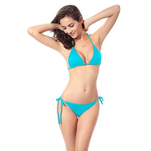 Defline Women's Classic Bikini Set Bathing Suit Adjustable Size