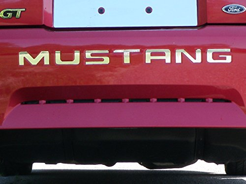 "MUSTANG 1999-2004 FORD (7 Pc: Stainless Steel ""MUSTANG"" Bumper Letter Insert – Approx. 1.75″ , 2-door) SGR39351:QAA"
