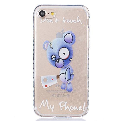 Für Apple iPhone 7 (4.7 Zoll) Hülle ZeWoo® TPU Schutzhülle Silikon Tasche Case Cover - BF090 / Blue Bear