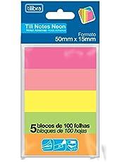 Bloco Adesivo Tili Notes 50x15mm 500 folhas 5 Cores,Tilibra - 1 un