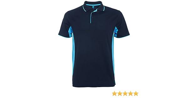 Polo técnico de Hombre Montmelo, Azul Marino/Azul Claro: Amazon.es ...