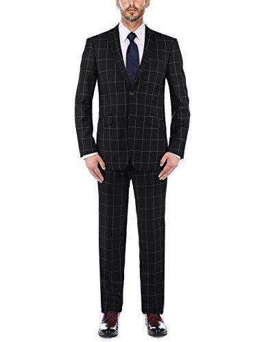 Windowpane Plaid Suit - 6