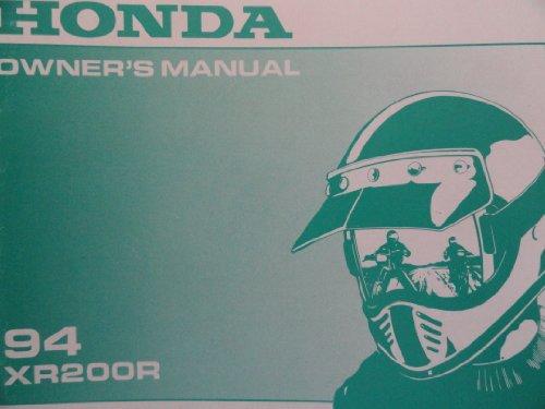 1994 honda xr200 owners manual xr 200 r honda amazon com books rh amazon com honda xr200 service manual pdf free download honda xr200r service manual pdf