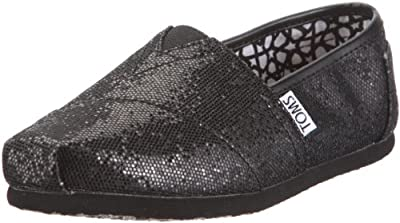 Toms Womens Glitter Classic Slip On Casual Alpargata Flat Shoes