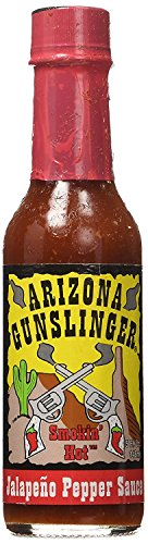 RetailSource Arizona Gunslinger Smokin' Red Jalapeño Pepper Sauce, 5 oz., 1 Bottle