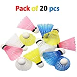 GREAT MASTER Starlite RANGLEELA Nylon Coloured Plastic Shuttle Cock Pack of 20 for Kids and Practice ONLY