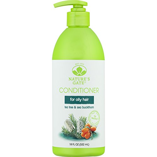 Nature's Gate Tea Tree Calming Conditioner for Irritated, Flaky Scalp, 18 Ounce (Pack of 3) Natures Gate Tea Tree Conditioner