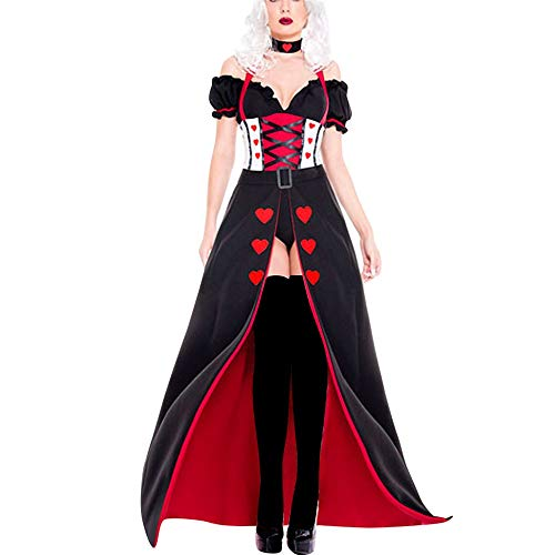 LOKODO Women 3 Piece Bandage Magic Witch Costume Cosplay Suit Skirt Cosplay Costumes for Women Sexy Halloween Costumes Black M