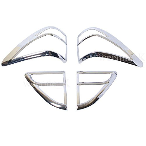 Chrome Rear Tail Light Taillight Lamp Cover Trim For Mazda BT50, BT-50, BT 50 Pickup 2012 2013 2014 2015 V.2