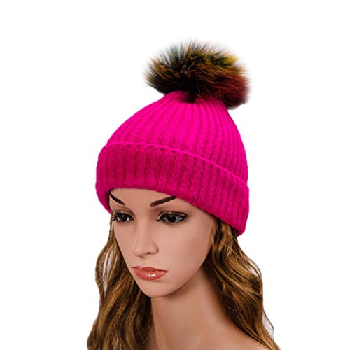 PIKAqiu33 Womens Winter Cosy Warm Hand Knit Faux