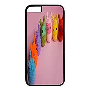 Custom Case Cover For iPhone 6 Plus Black PC Back Phone Case Hard Single Shell Skin For iPhone 6 Plus With Seven Color Rabbits