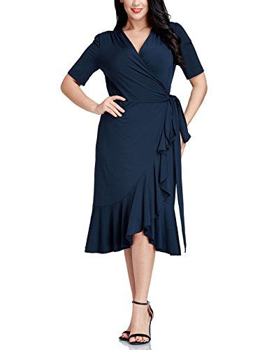 Grapent-Women-Plus-Size-Navy-Ruffle-Surplice-Asymmetric-Midi-Wrap-Dress-Cocktail
