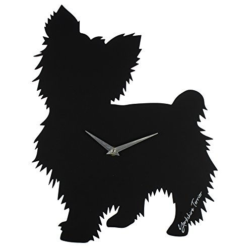 Best Of Breed Dog Cut Out Silhouette Quartz Wall Clock Yorkshire Terrier