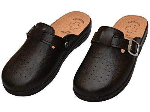 Hopital 3511 Modèle 3512 Bawal Cuisine Chaussures Liège Semelle 41 Sandales Ou 36 Mules En Cuir Confort Femme Dames noir Pour Taille xwwHqYTp