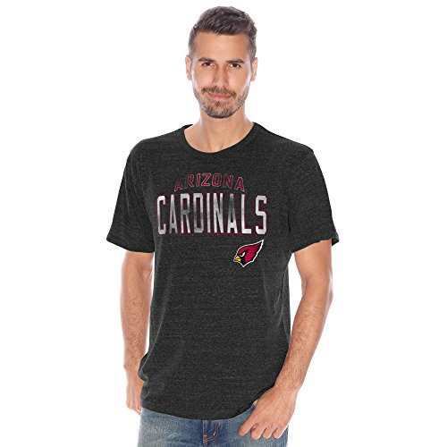 Arizona Cardinals Men's Line Up Heathered Tri-Blend T-Shirt (XX-Large)