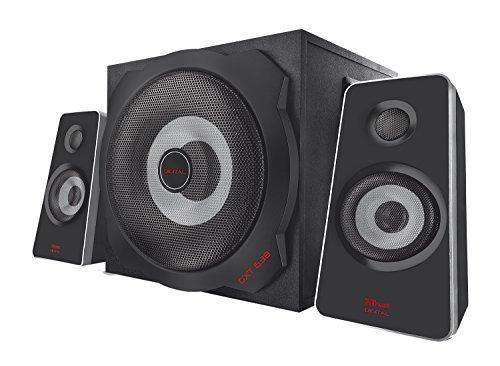 Trust GXT 638 2.1 Digitaler Gaming Lautsprecher mit optischem Eingang und Subwoofer für PS4PCXbox One, schwarz