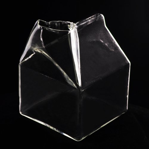 Coffee Milk Carton Glass Cup