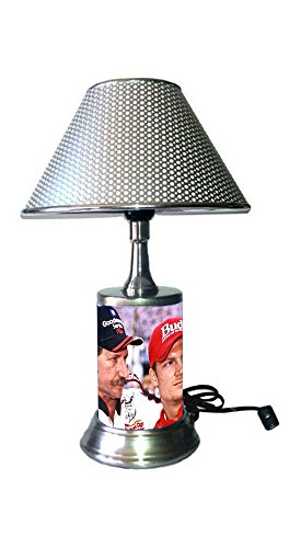 Dale Earnhardt Jr Light - Dale Earnhardt Lamp with chrome shade, Dale Earnhardt Sr and Jr