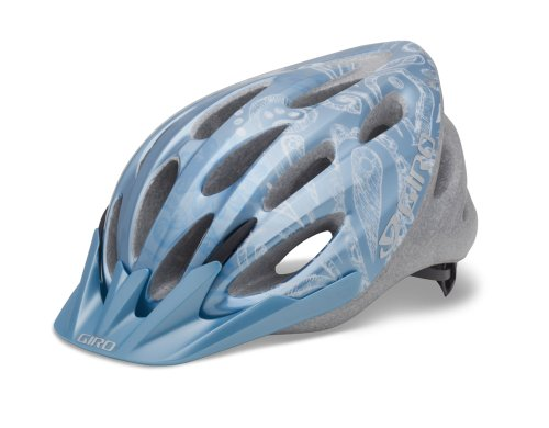 Giro Women's Skyla Cycling Helmet (Ice Blue/White Flower - Bicycle Helmet Giro Blue