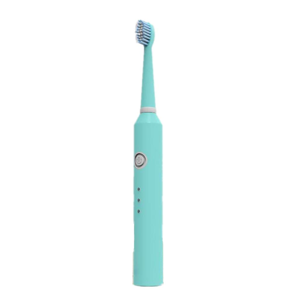 PXYUAN Electric Toothbrush, Rechargeable Powered by USB, with Whitening and Sensitive, Pressure Sensor, Effectively Solve Problems Such as Yellow Teeth, Traveling Good Assistant-Blue
