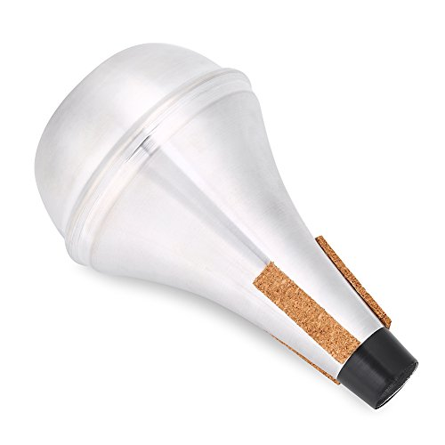 Dilwe Trumpet Mute, Cork Strips Aluminum Alloy Practice Trumpet Cornet Mute Silencer by Dilwe (Image #7)