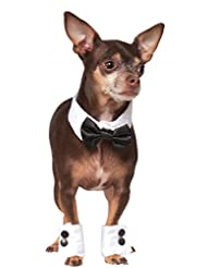 Rubies Costume Company Bowtie and Cuff Set Pet Accessories, S...