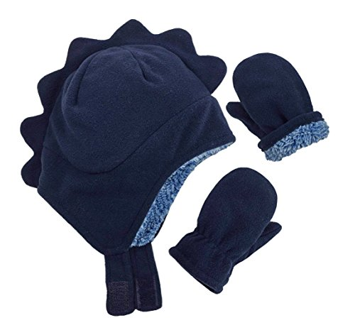 N Ice Caps Little Boys and Baby Soft Sherpa Lined Fleece Dino Hat Mitten Set c8f77f9ada36