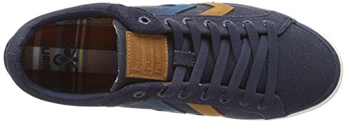 Hummel Deuce Court Waxed Canvas - zapatillas de lona unisex azul - azul (Dress Blue)
